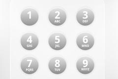 圆形电话键数字设计矢量素材