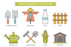 12款创意农场元素矢量素材