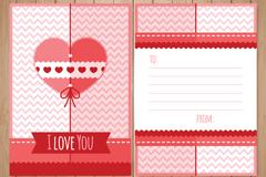 创意爱心祝福卡正反面矢量素材