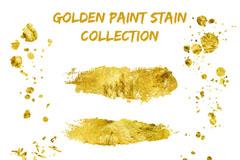 9款金色墨迹设计矢量素材