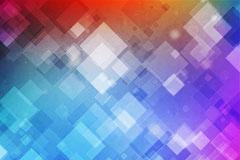 彩色光晕菱形格背景矢量素材