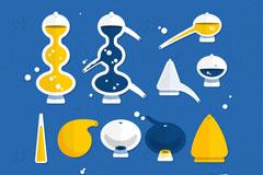 11款创意化学研究用品矢量素材