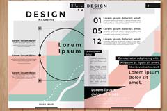 时尚商务宣传册跨页矢量素材
