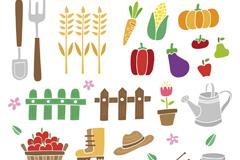 20款手绘农场元素矢量素材