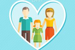爱心中的家庭国际家庭日贺卡矢量图
