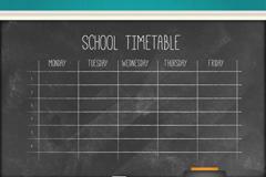 创意黑板课程表矢量素材