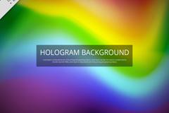 彩虹色全息图背景矢量素材