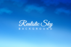 蓝色天空和浮云背景矢量素材
