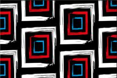 抽象彩色回形花纹无缝背景矢量图