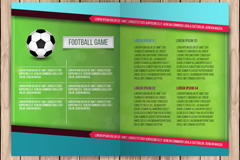 创意足球运动折页宣传单矢量素材
