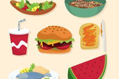 7款美味快餐食品设计矢量素材
