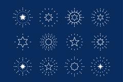 16款创意星星图标设计矢量素材
