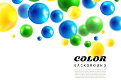 彩色质感水彩气泡背景矢量素材
