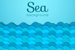 蓝色海浪剪贴画矢量素材