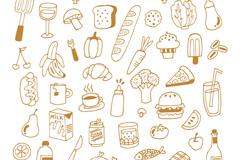 43款手绘食物设计矢量素材
