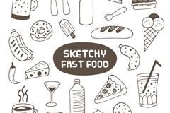 22款手绘食物设计矢量素材