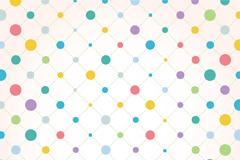 彩色圆点连线背景矢量素材