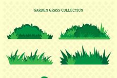 6款绿色草地草丛设计矢量素材