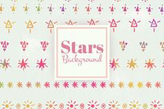 9款彩绘星星背景矢量素材