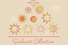 10款童趣手绘太阳设计矢量梦之城娱乐