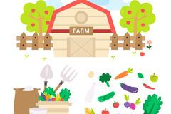 22款创意农场元素矢量素材