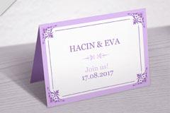 紫色婚礼折页邀请卡矢量素材