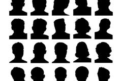 25款男子头像剪影矢量素材