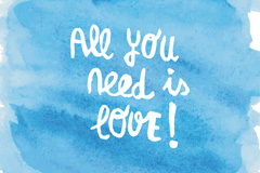 创意你需要的是爱艺术字矢量素材