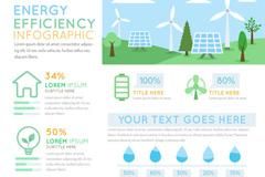 创意绿色能源效应信息图矢量素材