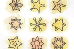 9款创意星星设计矢量素材