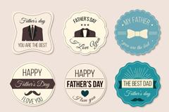 9款精致父亲节标签矢量素材