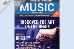 时尚音乐杂志封面设计矢量图