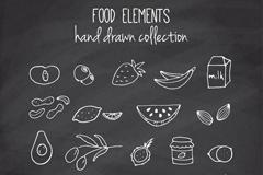 19款简洁手绘食物设计矢量素材