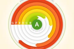 彩色圆环能源效应信息图矢量素材