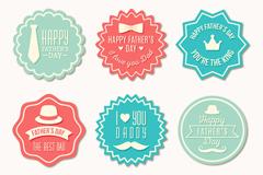 6款创意父亲节祝福标签矢量素材