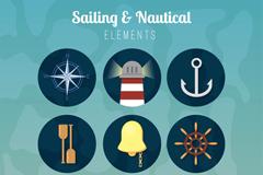 9款复古航海图标矢量素材
