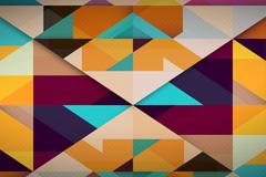 抽象菱形格拼色背景矢量素材