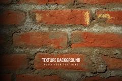 红色方砖混凝土墙面背景矢量素材