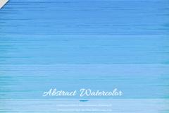 蓝色水彩绘横向纹理背景矢量素材