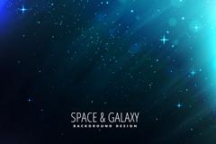 蓝色宇宙星空背景矢量素材