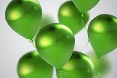 绿色光泽逼真气球矢量素材