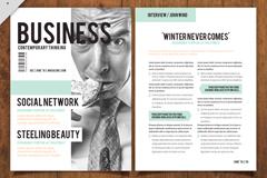 创意商务杂志单页设计矢量素材
