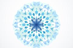 蓝色万花筒背景矢量素材