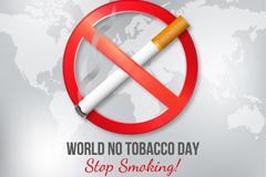 创意世界戒烟日海报矢量w88优德