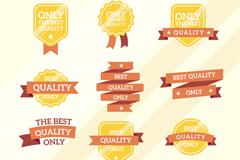9款优质金色销售丝带矢量素材