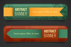 3款彩色质感banner矢量素材