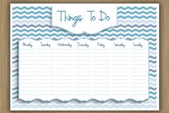 空白一星期计划表矢量素材