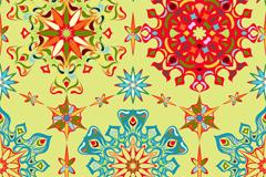 鲜艳抽象花纹设计矢量w88优德