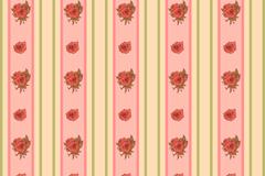 红色玫瑰和竖纹背景矢量素材