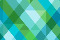 蓝色和绿色菱形格背景矢量素材